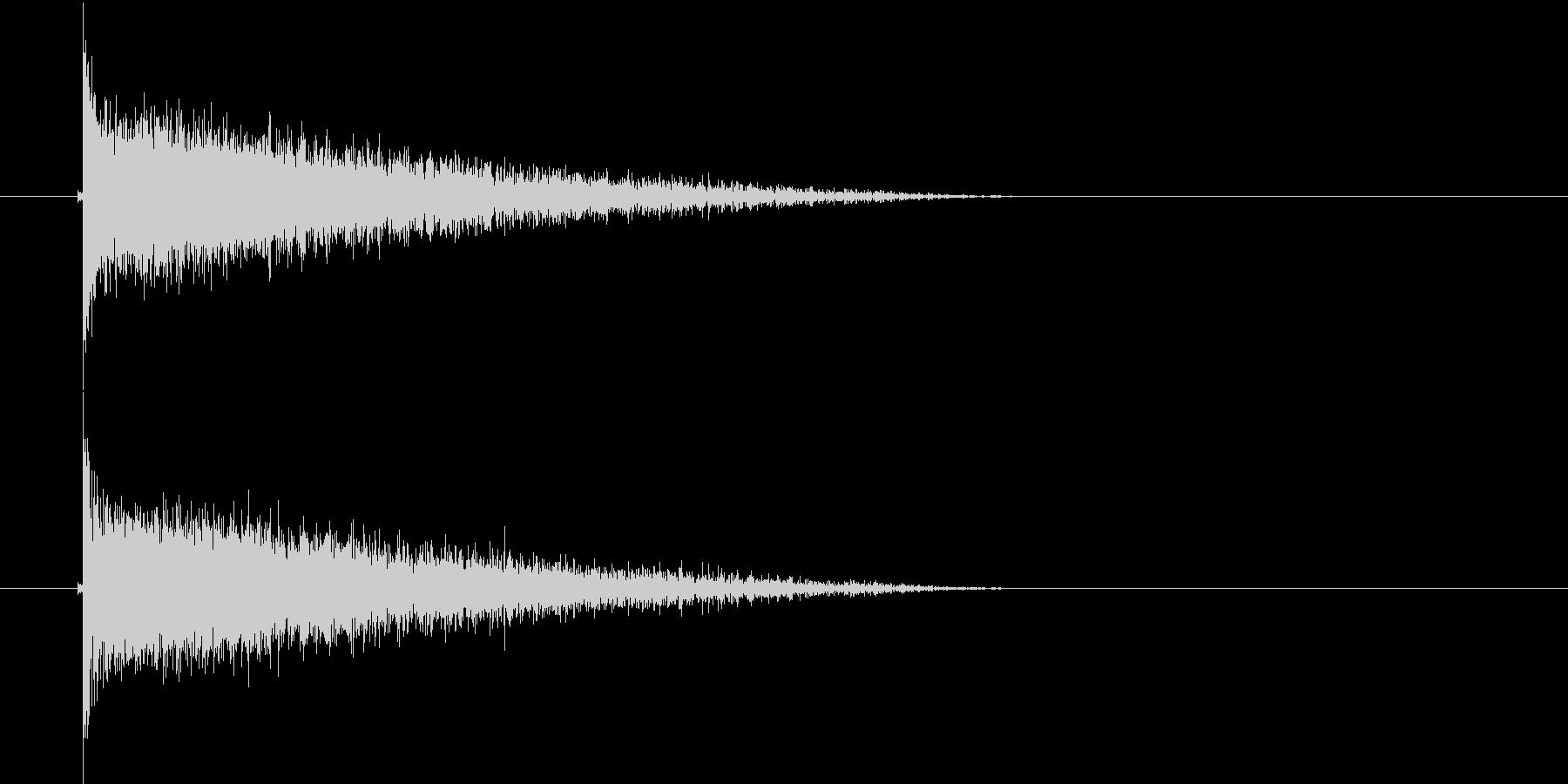 バシャーン(爆破音)の未再生の波形