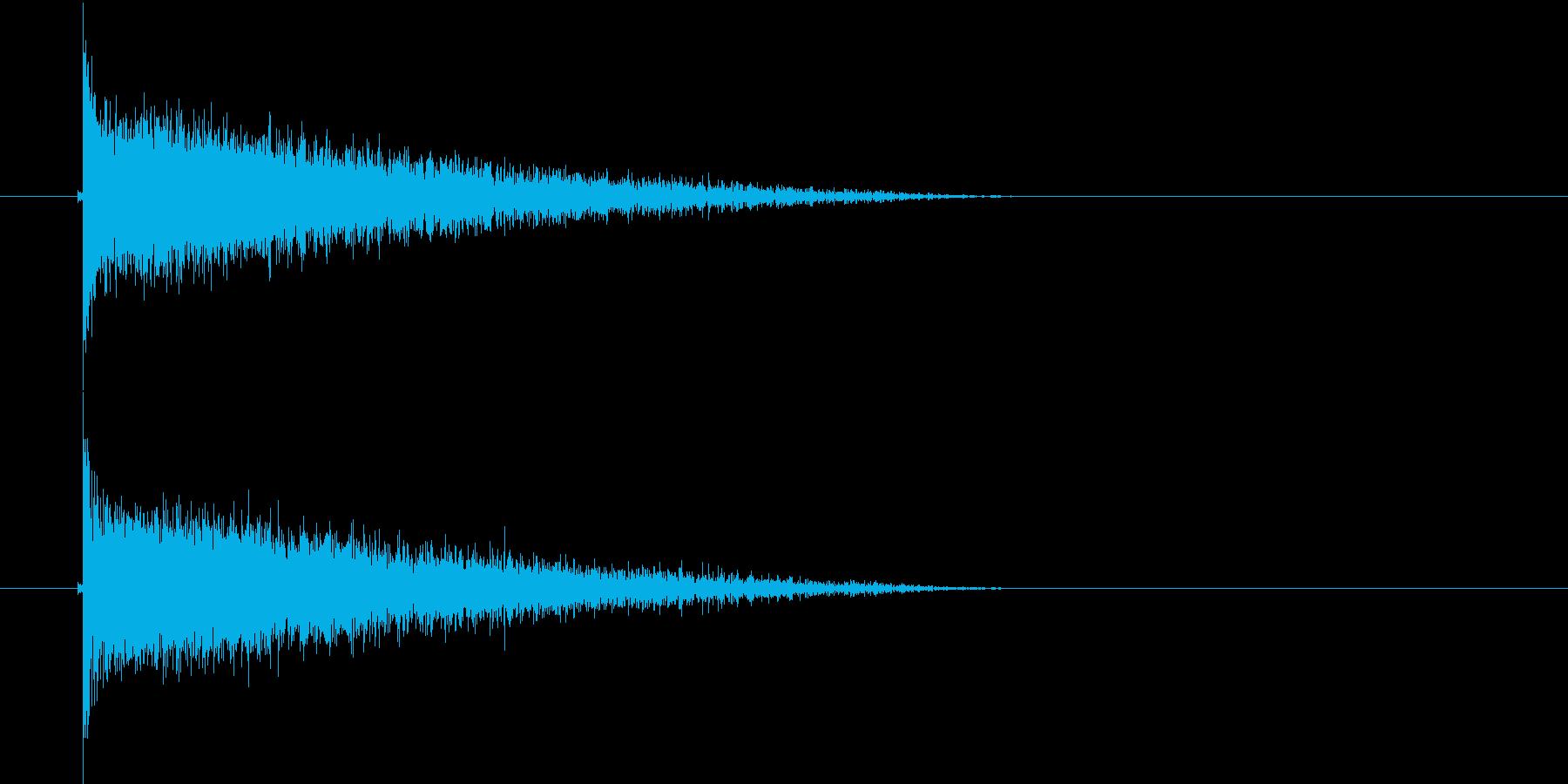 バシャーン(爆破音)の再生済みの波形