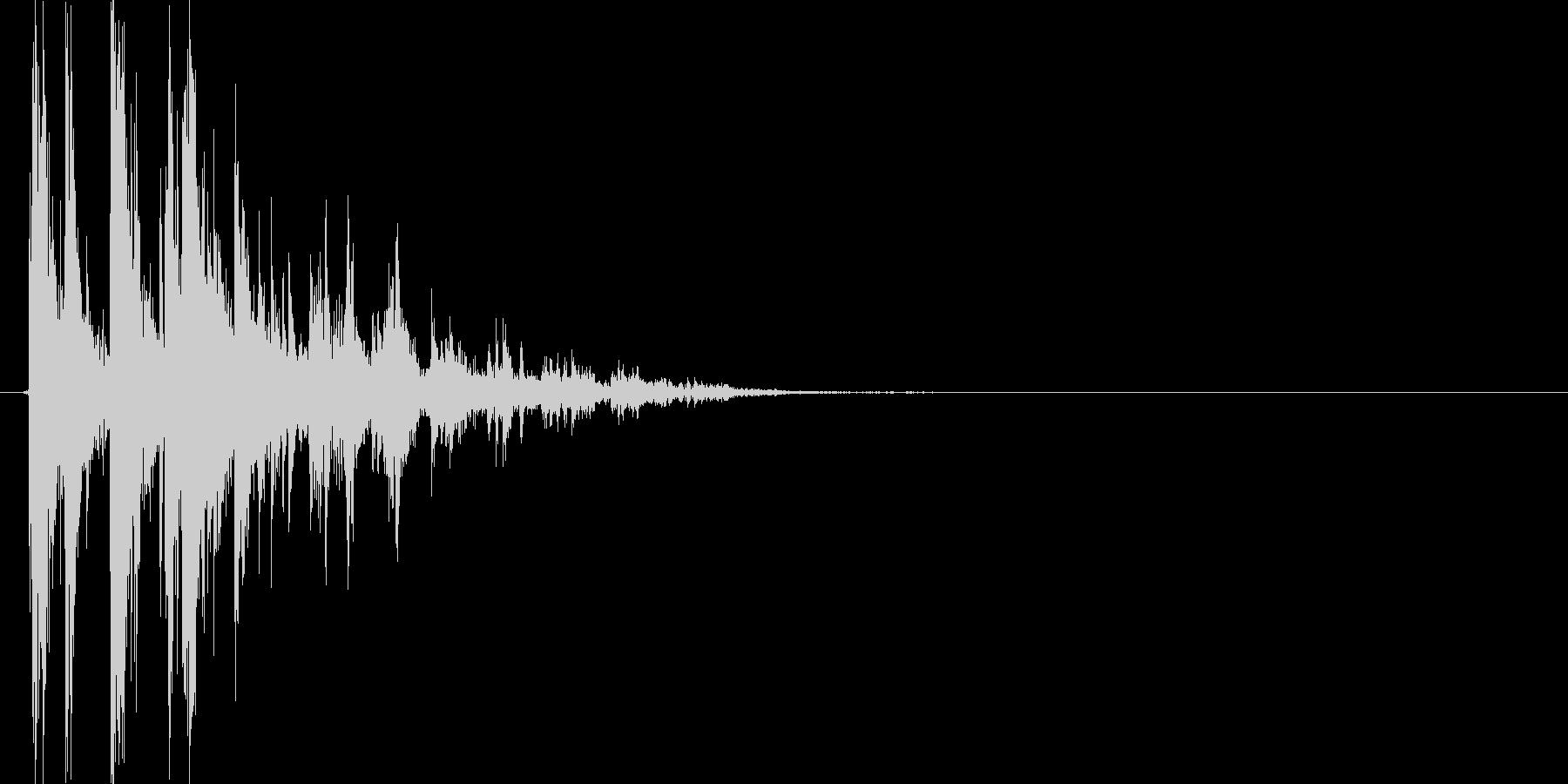 チャリン(コイン、お賽銭)の未再生の波形