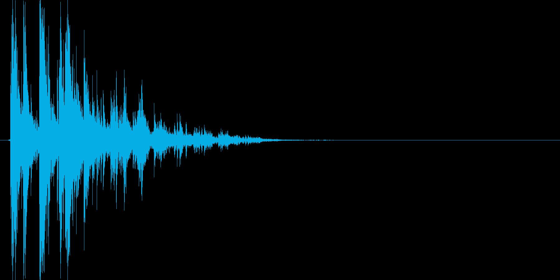 チャリン(コイン、お賽銭)の再生済みの波形