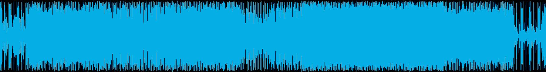 勇ましさのあるメタル系戦闘曲の再生済みの波形
