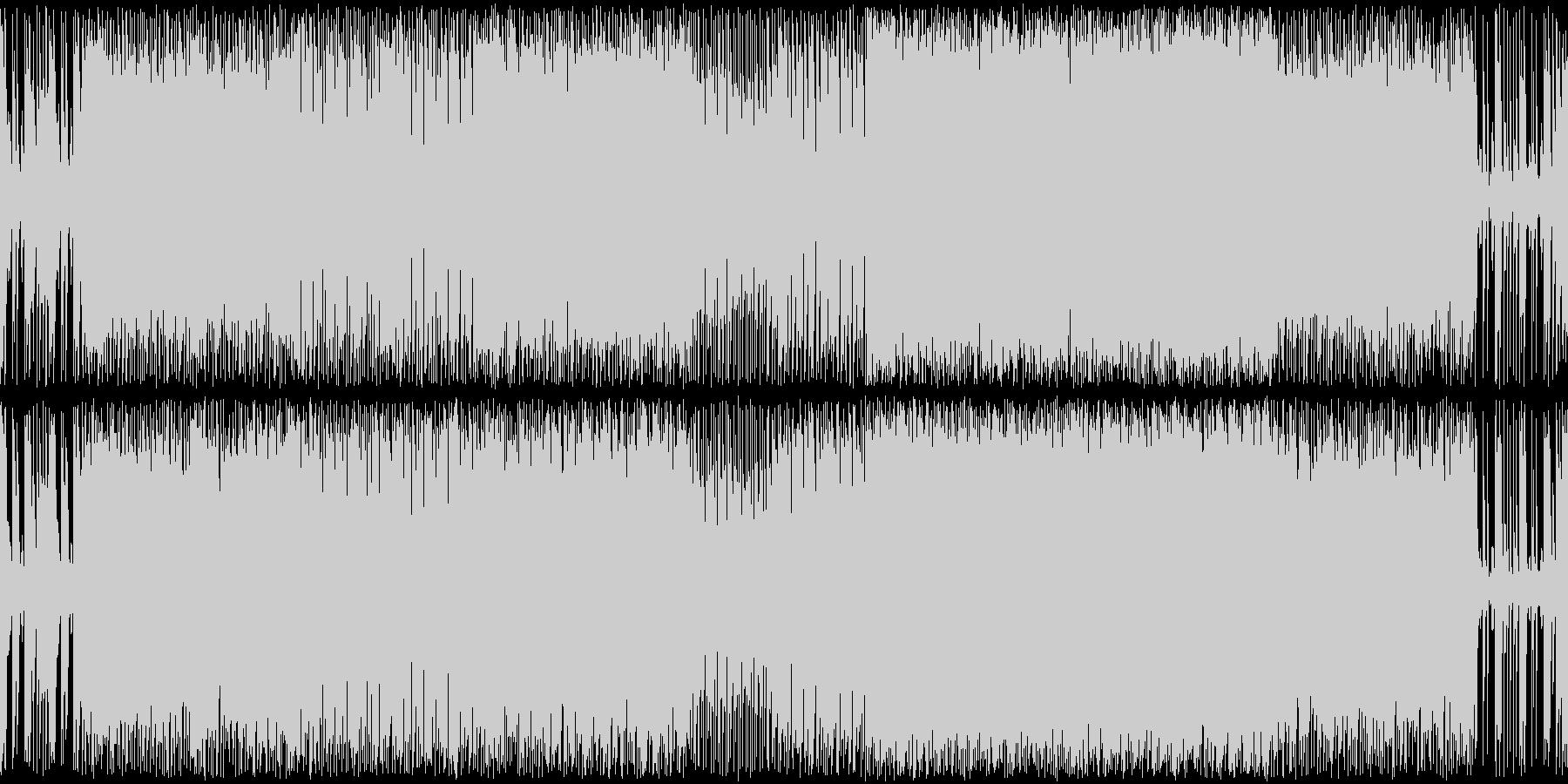勇ましさのあるメタル系戦闘曲の未再生の波形