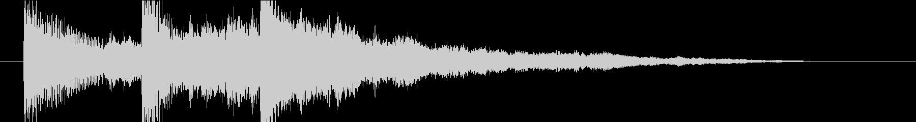 【ジングル】ピアノと森林の幻想的な曲の未再生の波形