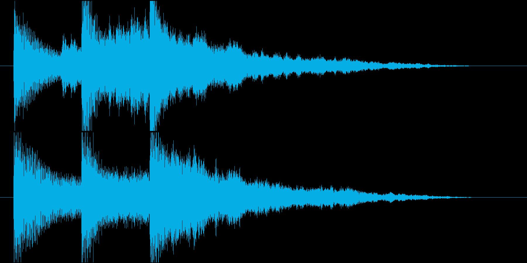 【ジングル】ピアノと森林の幻想的な曲の再生済みの波形