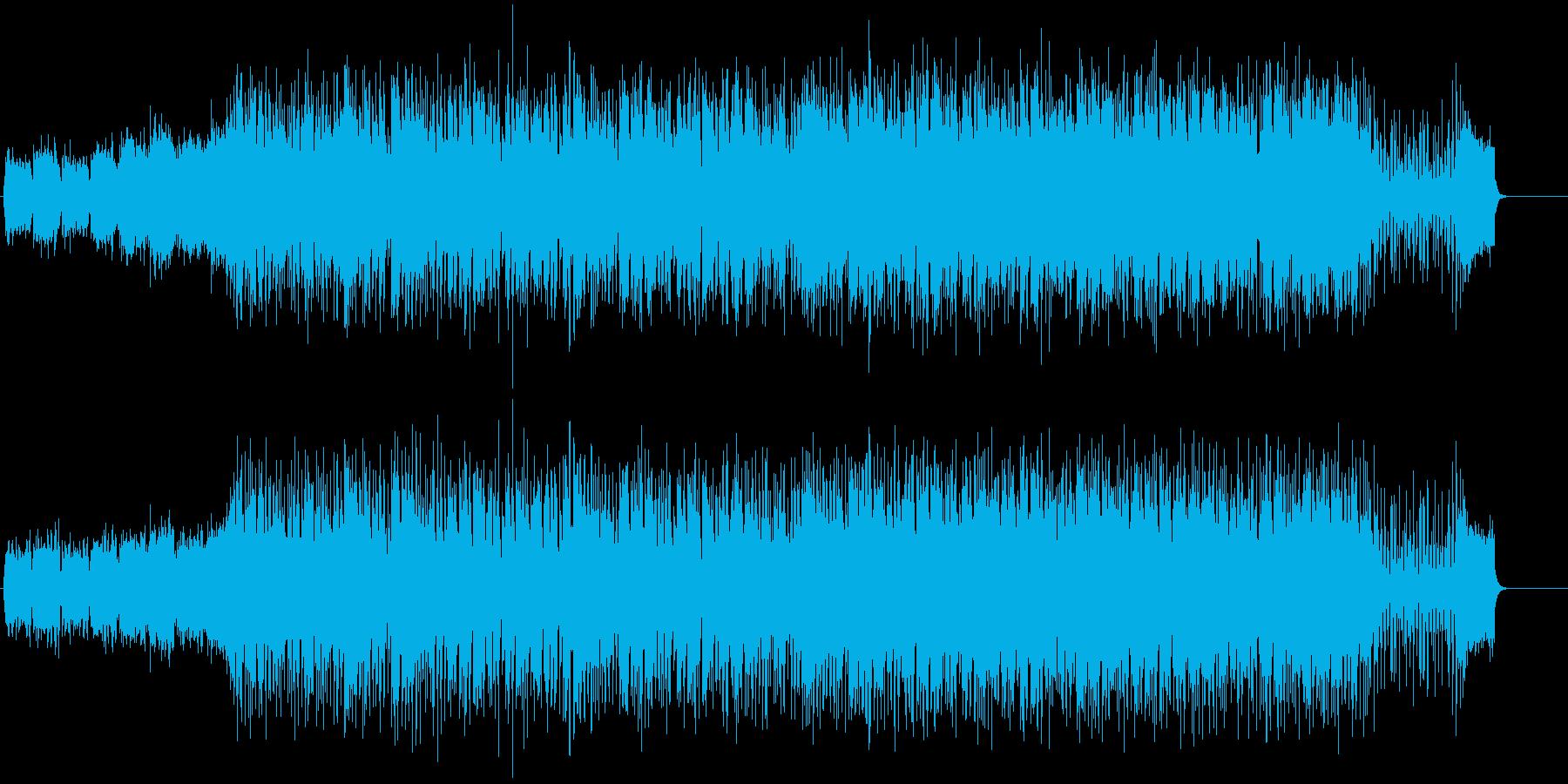 ポピュラー音楽風の再生済みの波形