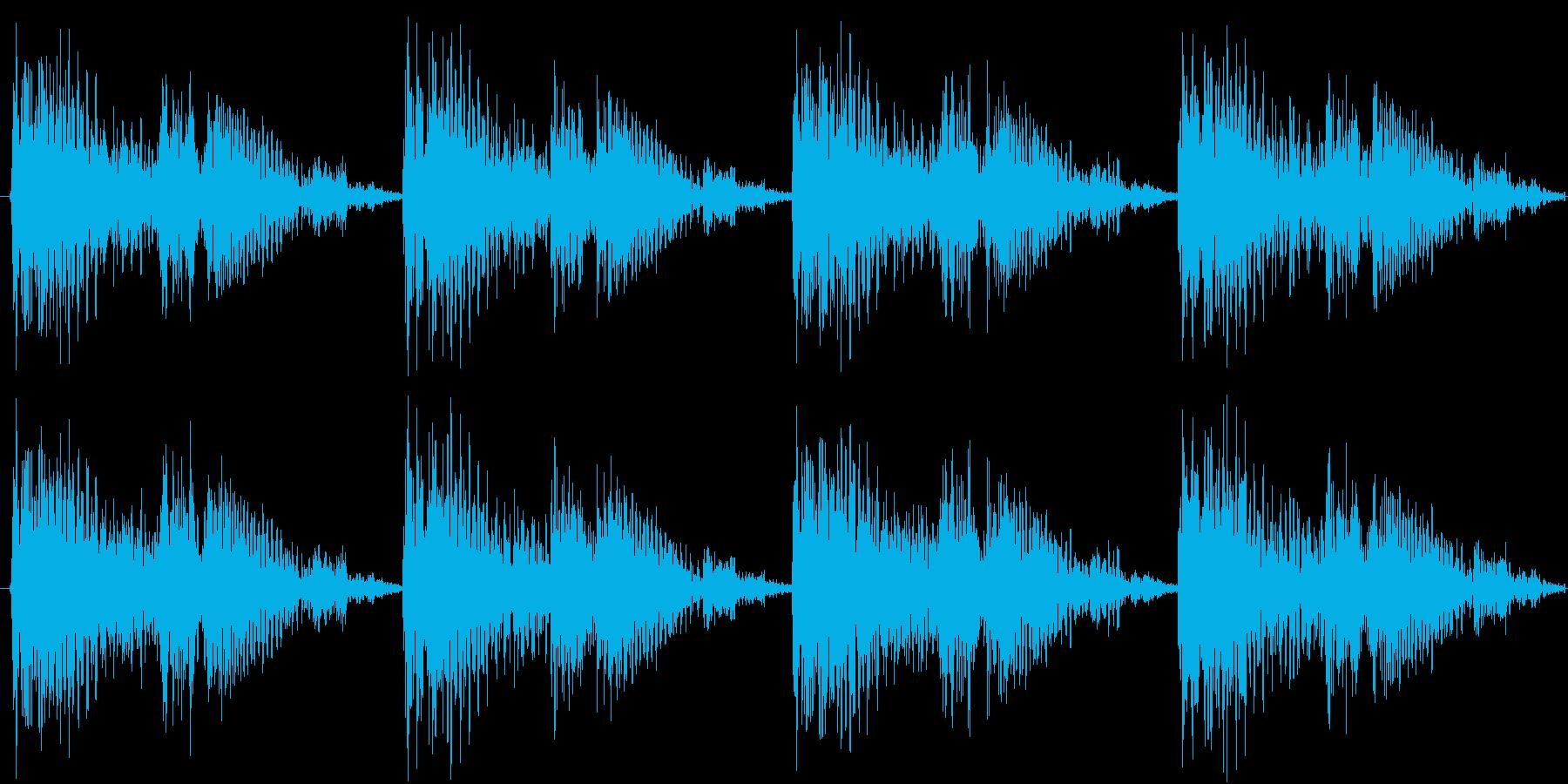 ループ対応のテクノを強く意識した楽曲の再生済みの波形