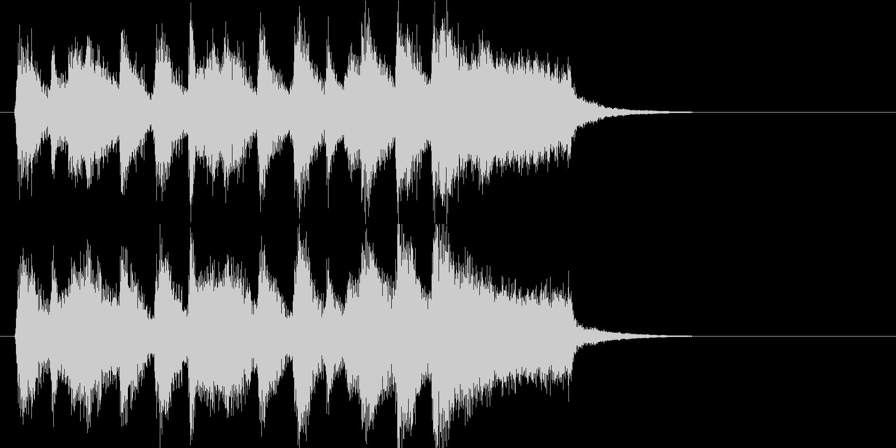 行進曲風のわくわくしてにぎやかなジングルの未再生の波形