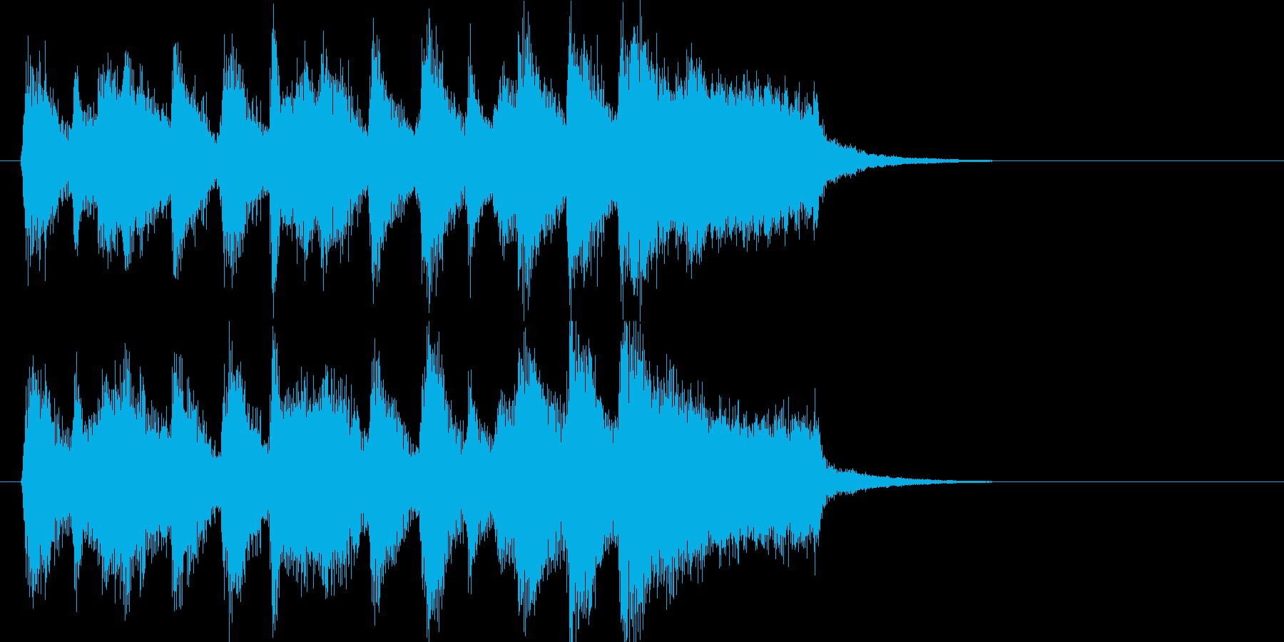 行進曲風のわくわくしてにぎやかなジングルの再生済みの波形