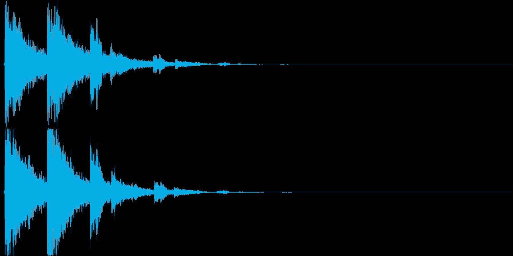 カランカランカラン(入店、酒場、パブ)の再生済みの波形
