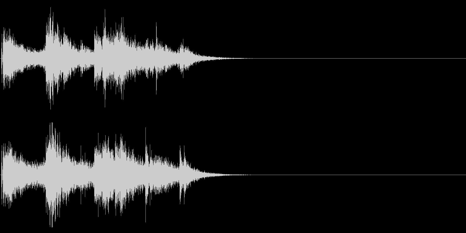 ドンパァ〜!本当にリアルな花火の効果音9の未再生の波形