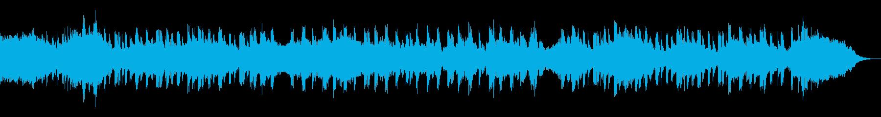 打楽器とドローンのムービートレーラーの再生済みの波形