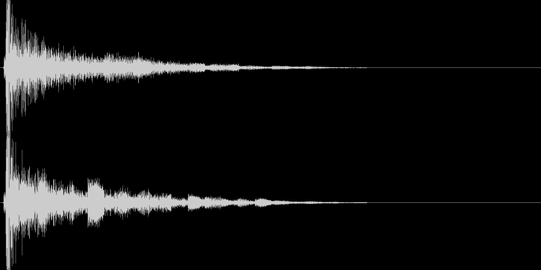 ゲームのセレクト画面でつかえる効果音の未再生の波形