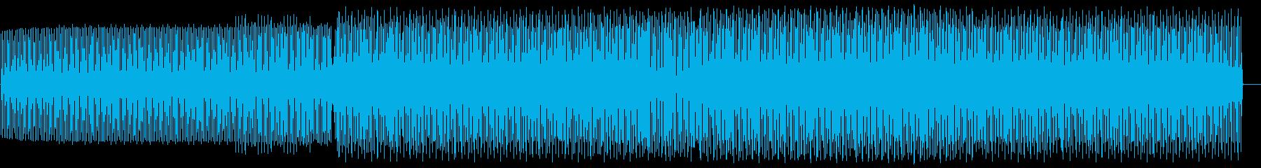 ミニマルなハウスのクラブサウンドの再生済みの波形