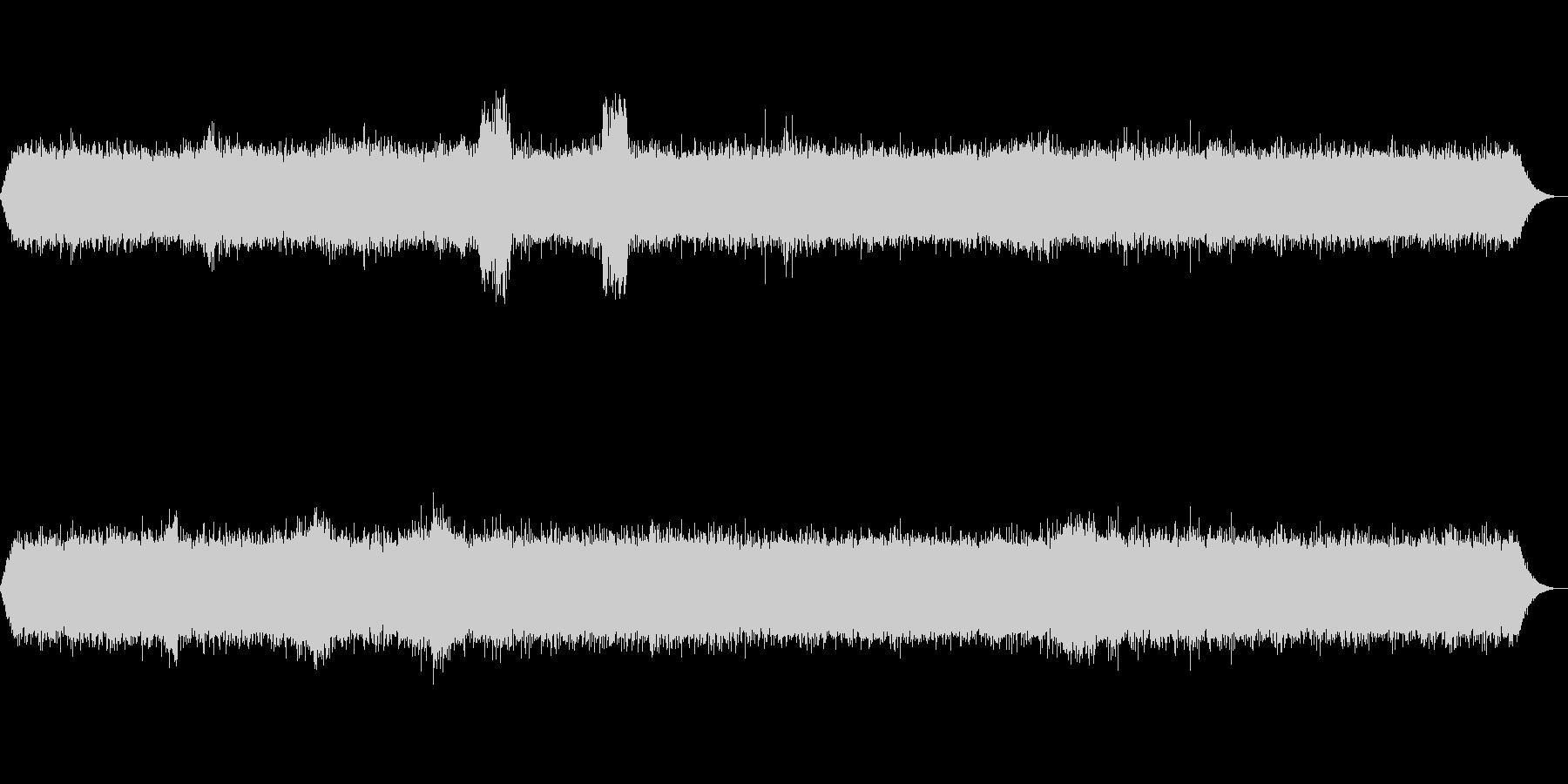 【ザー】ラジオのノイズ音の未再生の波形
