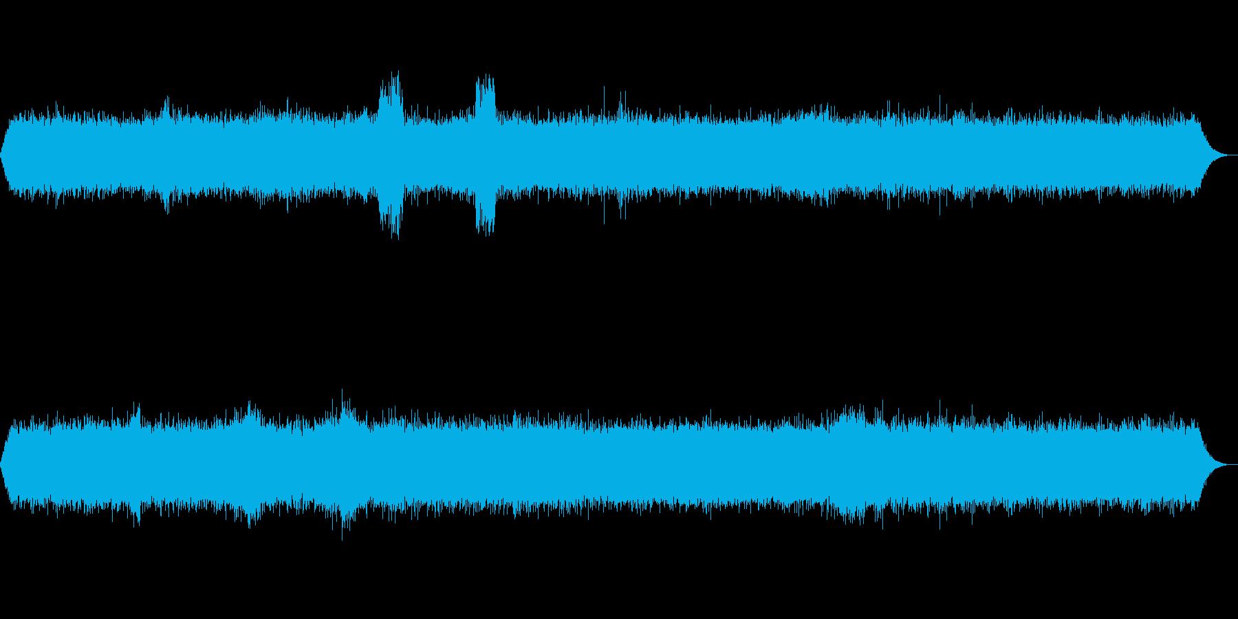 【ザー】ラジオのノイズ音の再生済みの波形