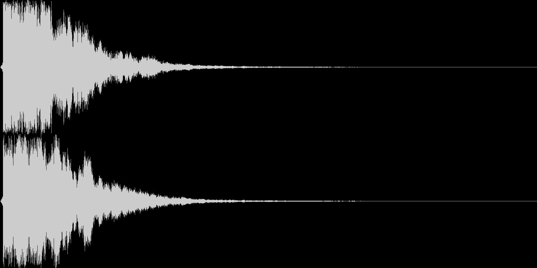 【ガキーン】必殺技や決めなどの音の未再生の波形