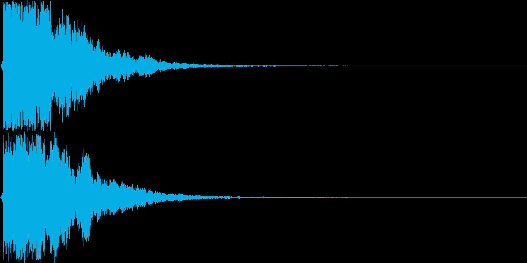 【ガキーン】必殺技や決めなどの音の再生済みの波形