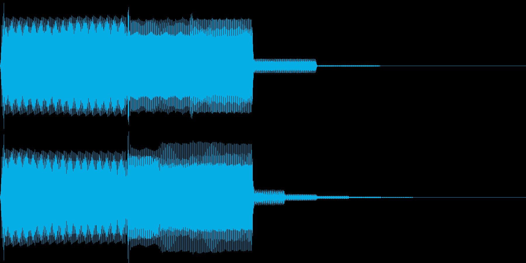 【SE】決定音10(ピポ)の再生済みの波形