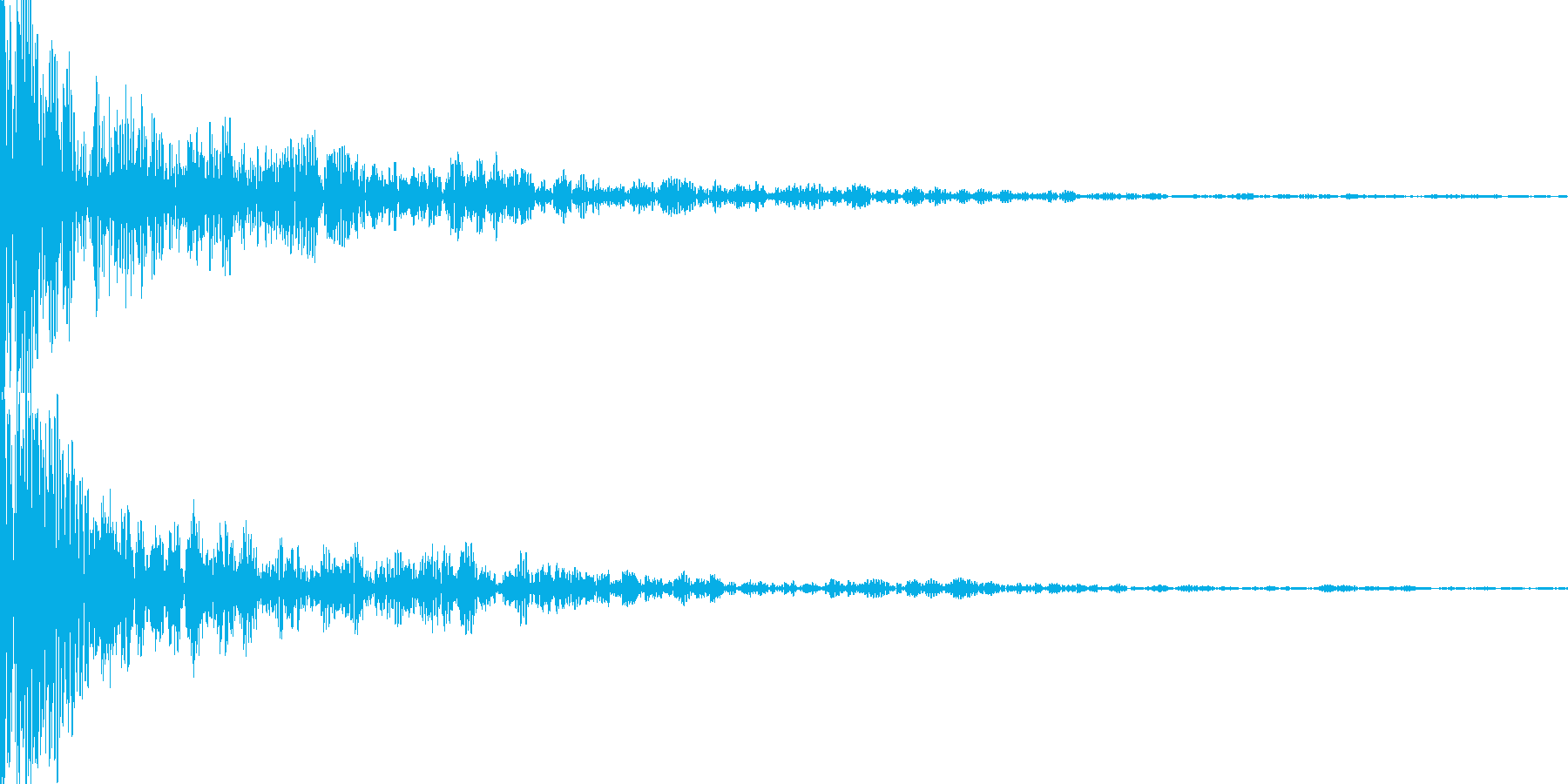 どーん(インパクト)の再生済みの波形