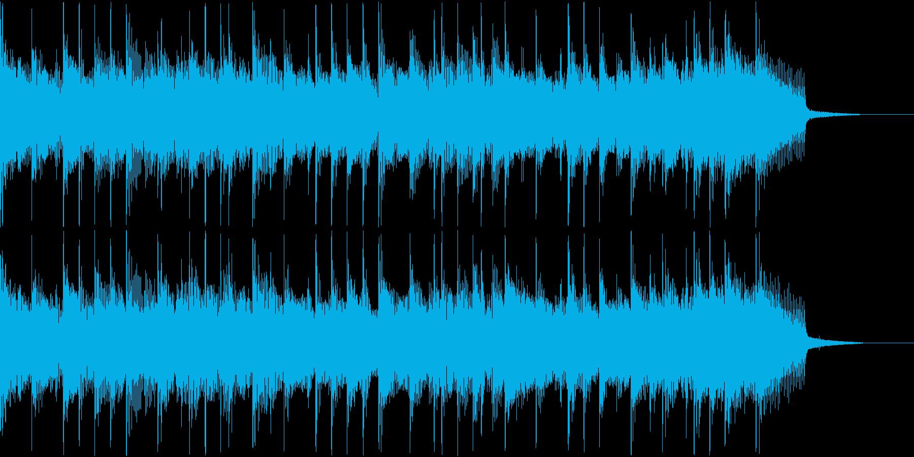 爽やかなバンド風BGMの再生済みの波形