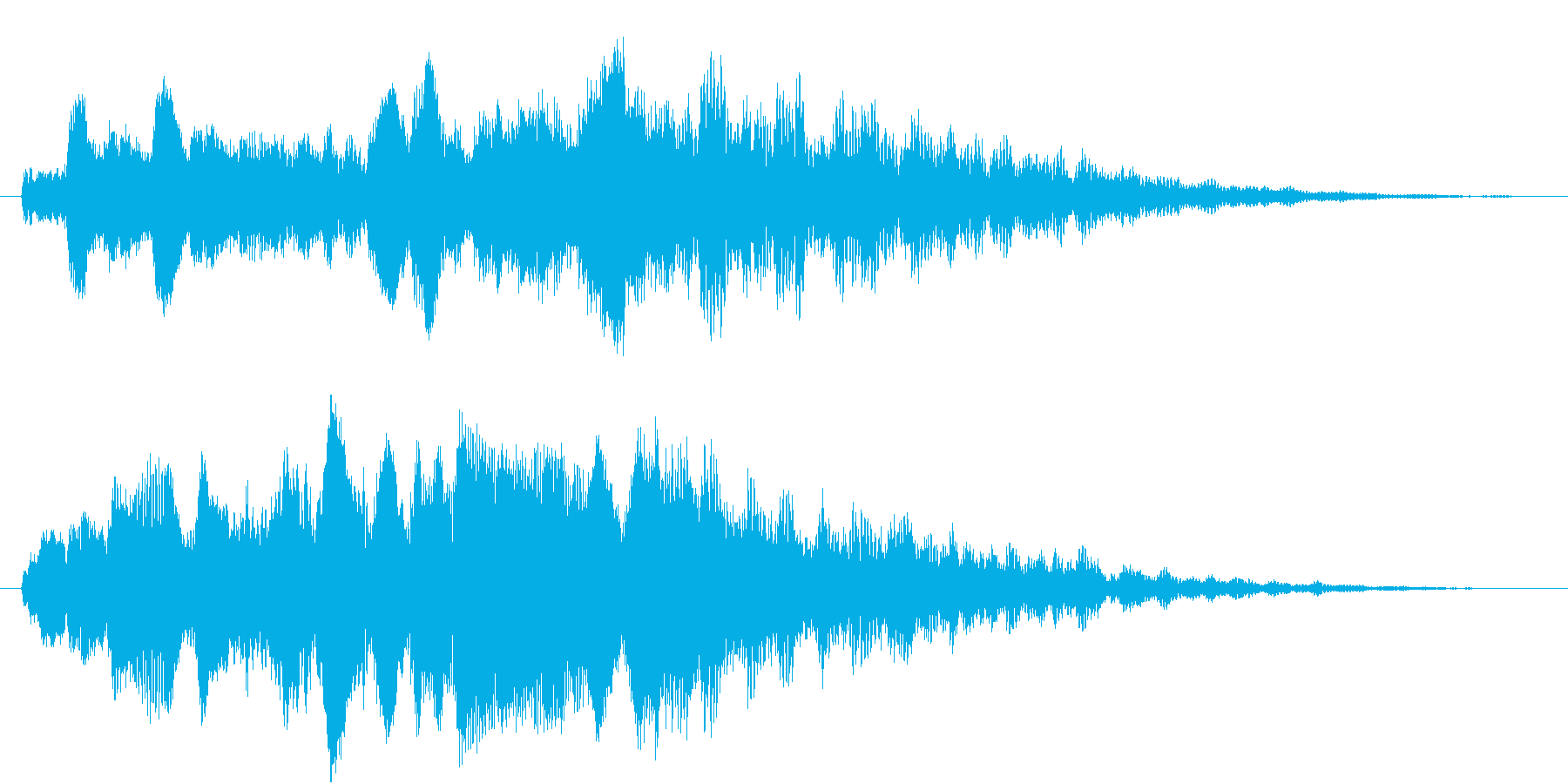 幻想的で洗練されたサウンドロゴの再生済みの波形