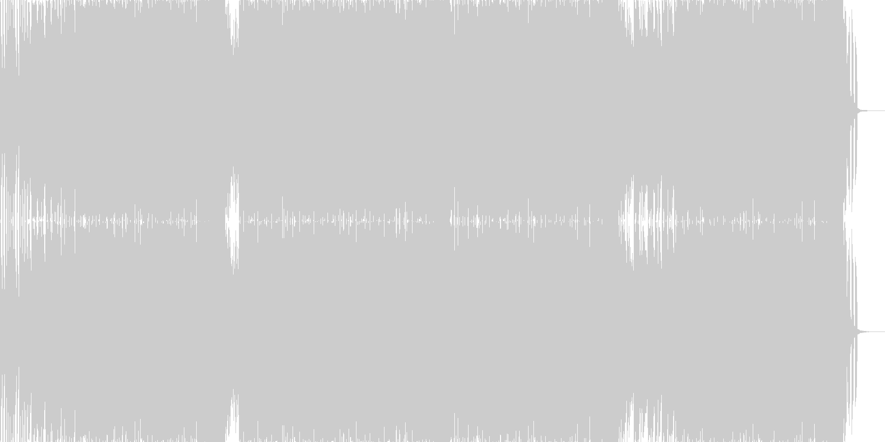 答えを求めるようなハウスミュージックの未再生の波形