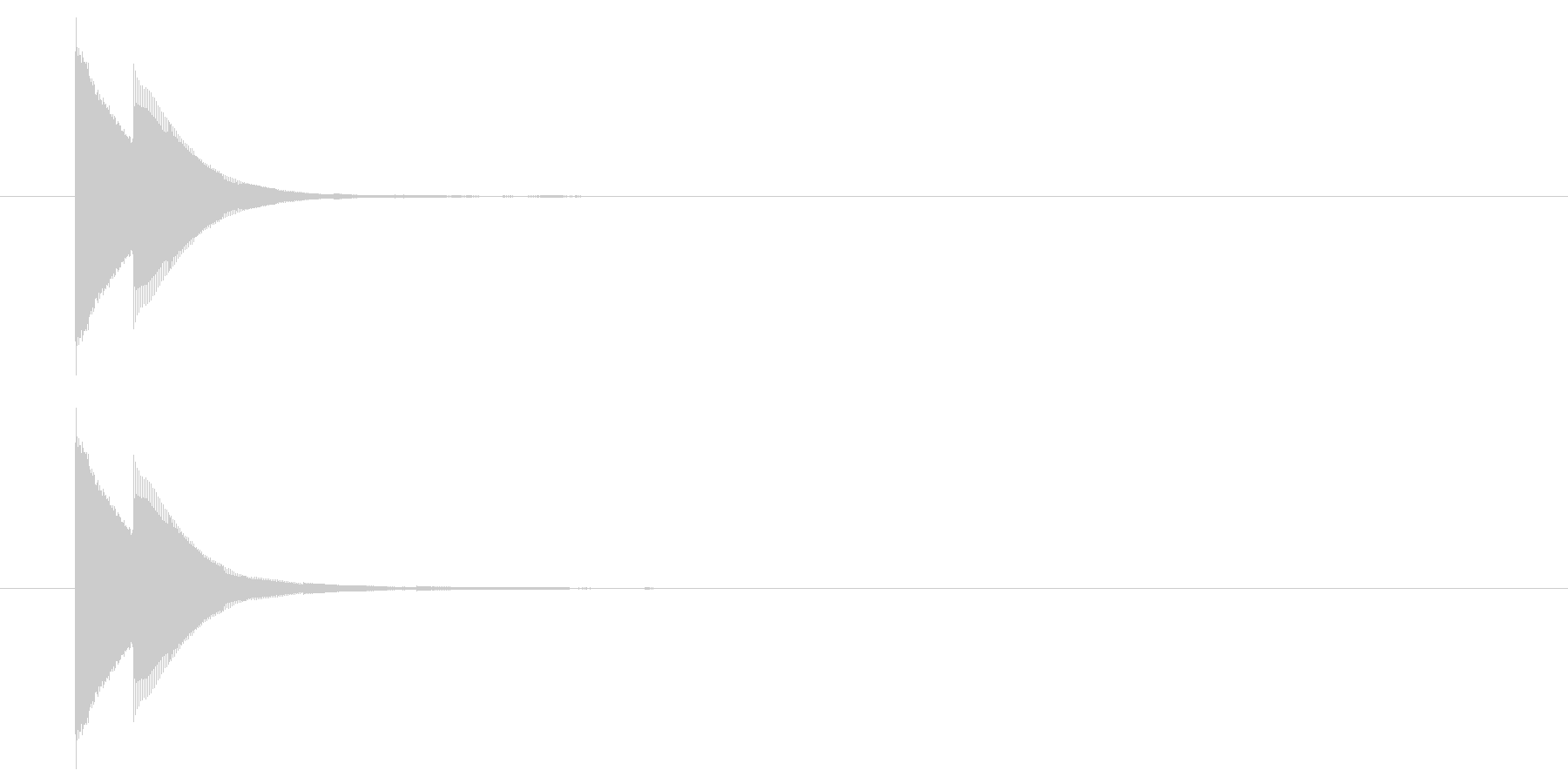 ピンポン(正解)05の未再生の波形