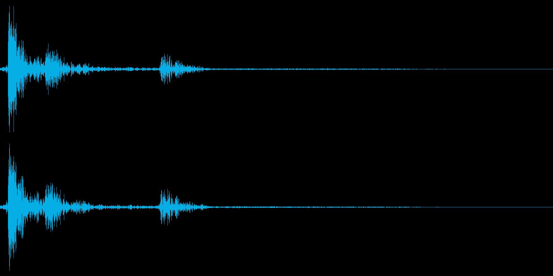 カチャ☆スイッチを入れる音の再生済みの波形