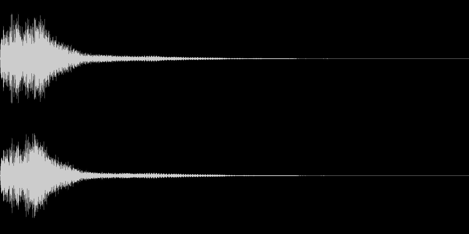 ハープとウィンドチャイムのジングルです。の未再生の波形