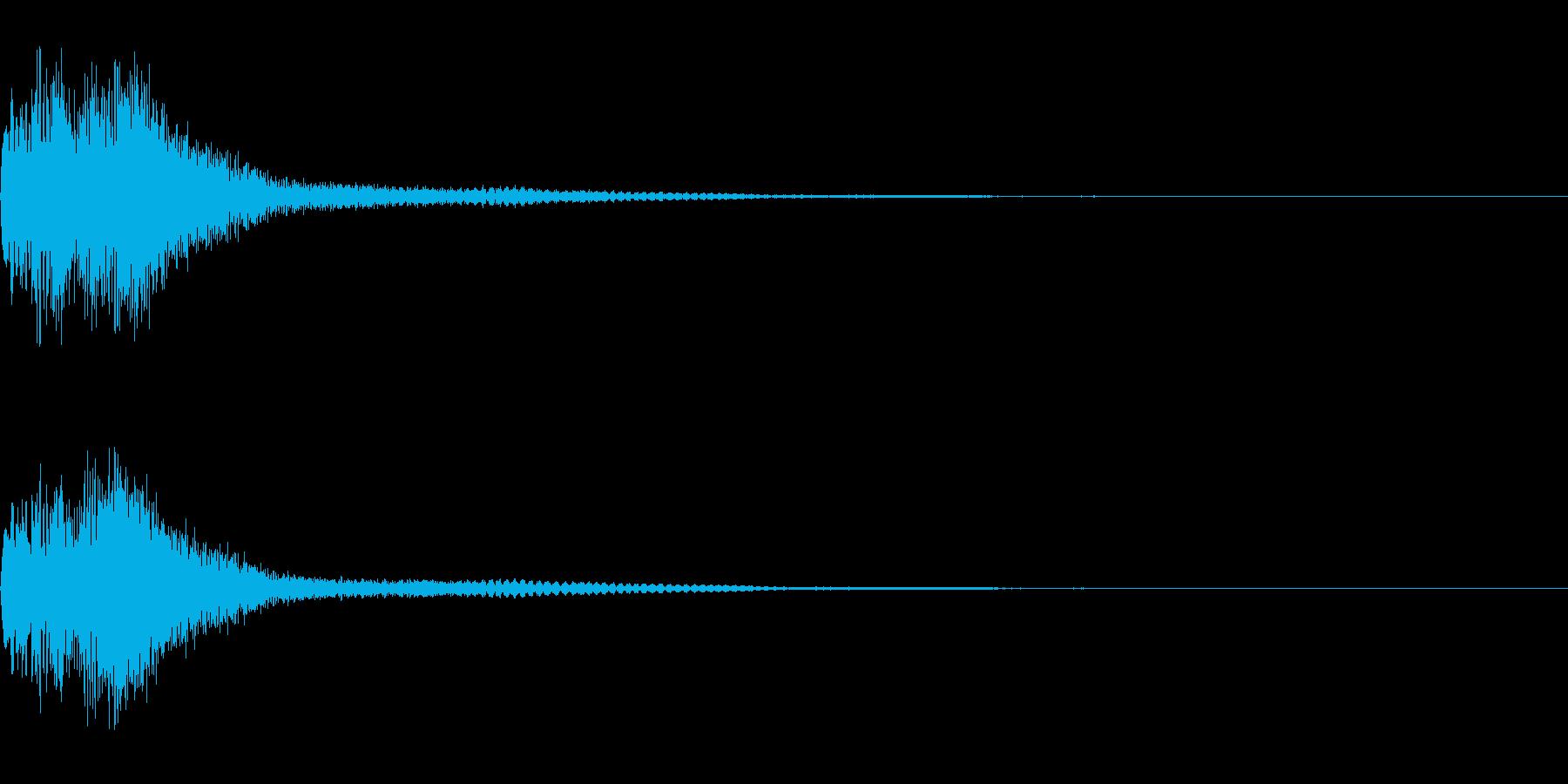 ハープとウィンドチャイムのジングルです。の再生済みの波形