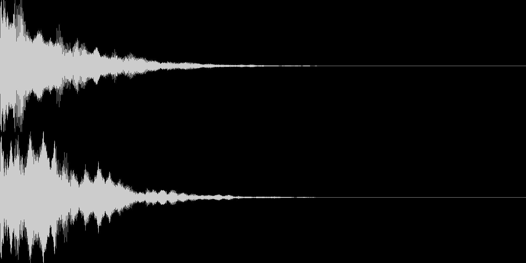 決定音79の未再生の波形