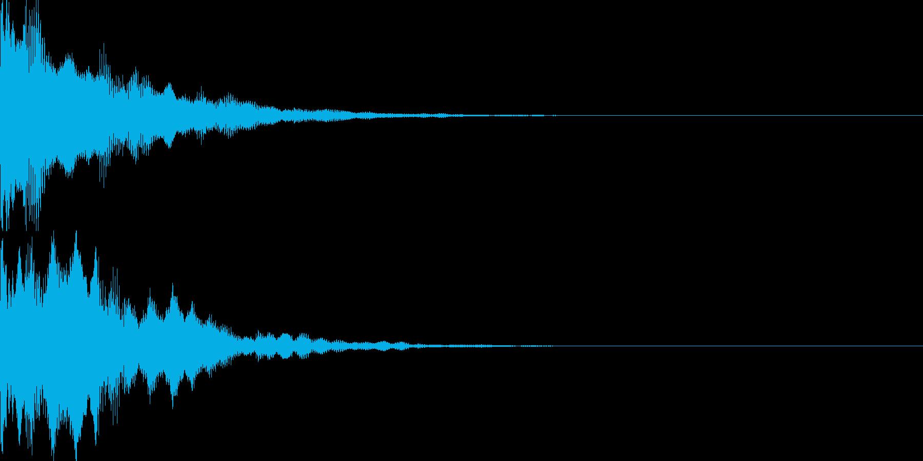 決定音79の再生済みの波形