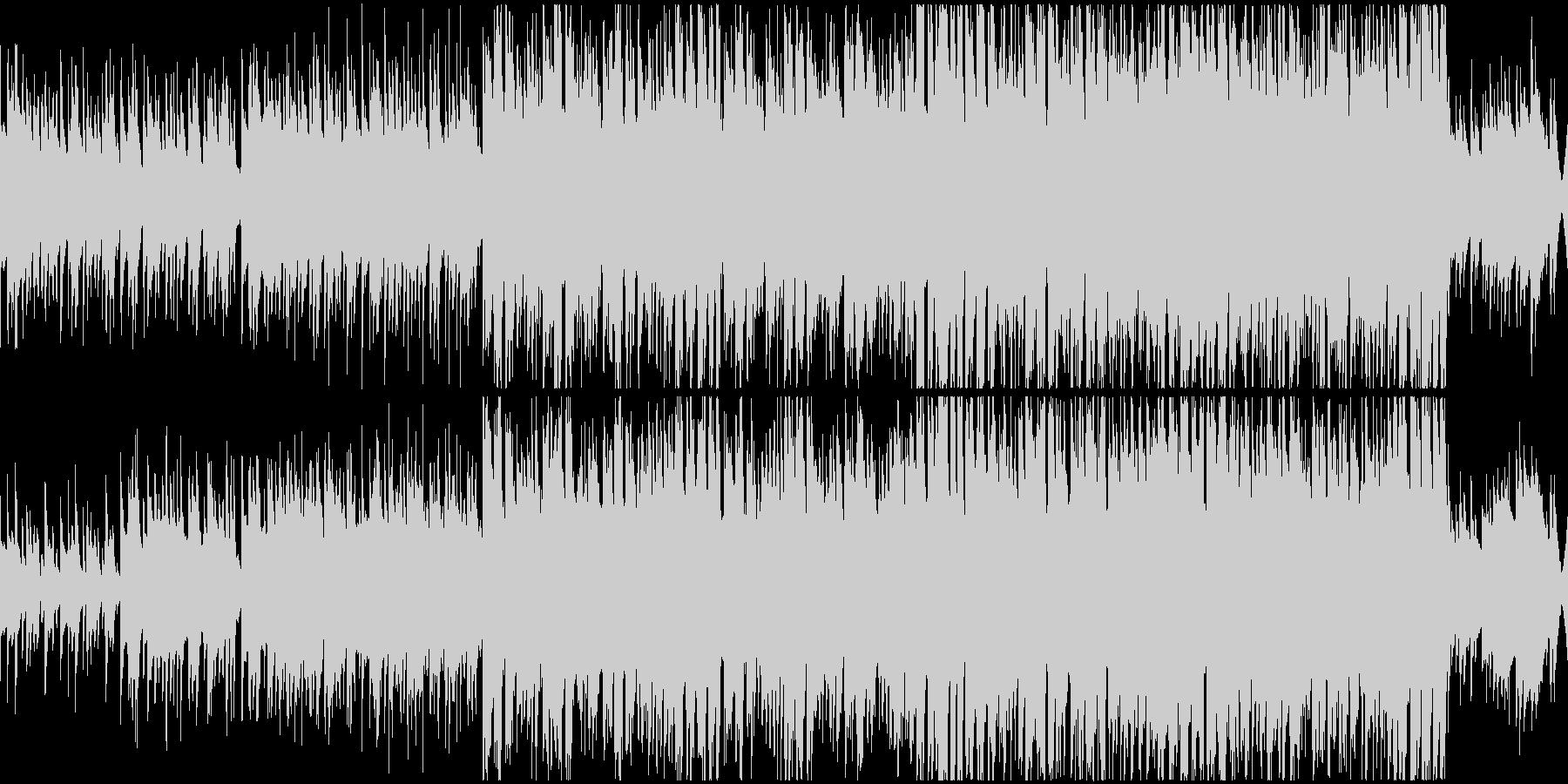 アコギから盛り上がるループ曲の未再生の波形