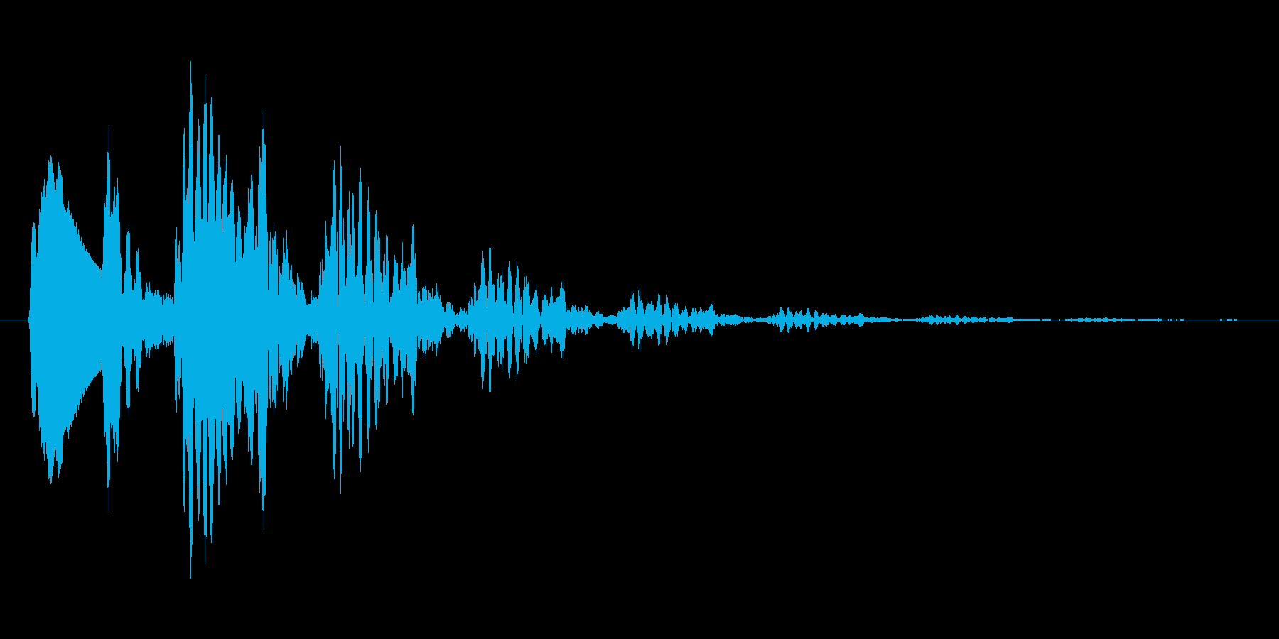 下降音.キャンセル.タップ.クリックの再生済みの波形
