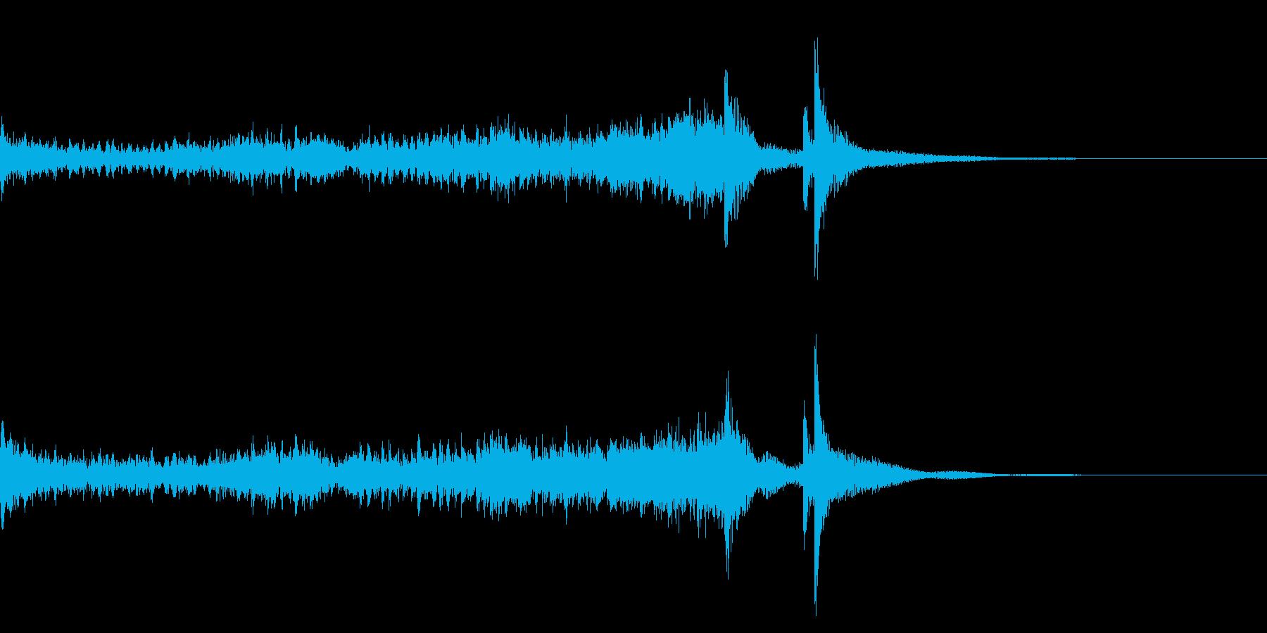 ティンパニーロールドドン☆ロング2の再生済みの波形