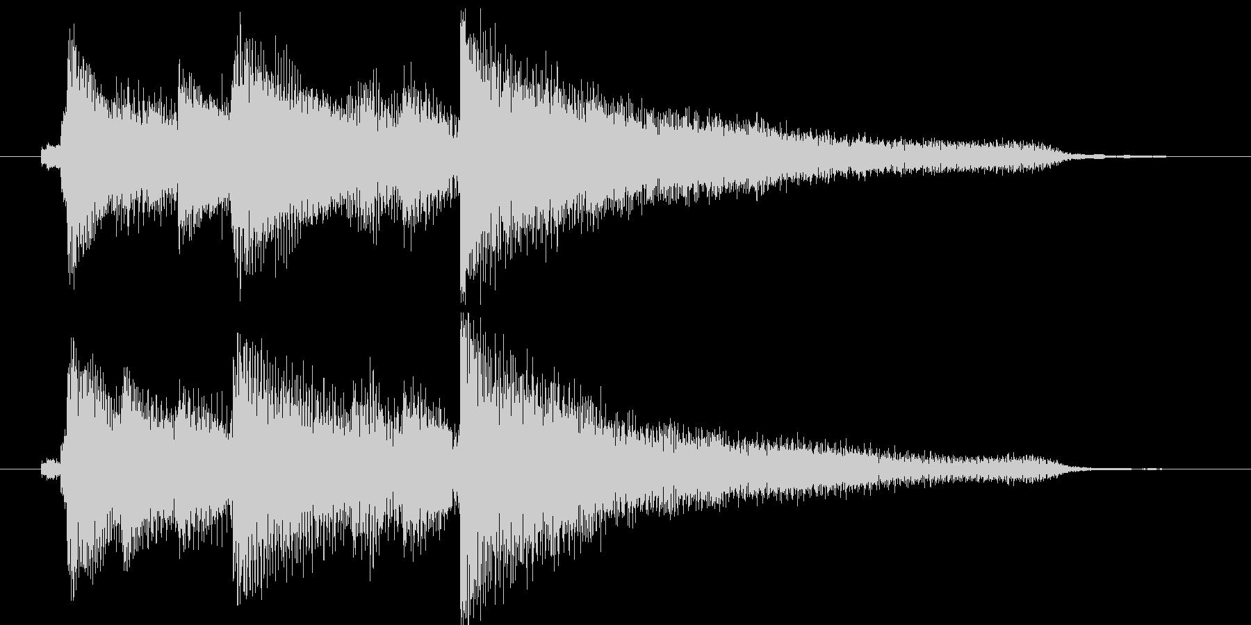 キラキラシンセとピアノのジングルの未再生の波形