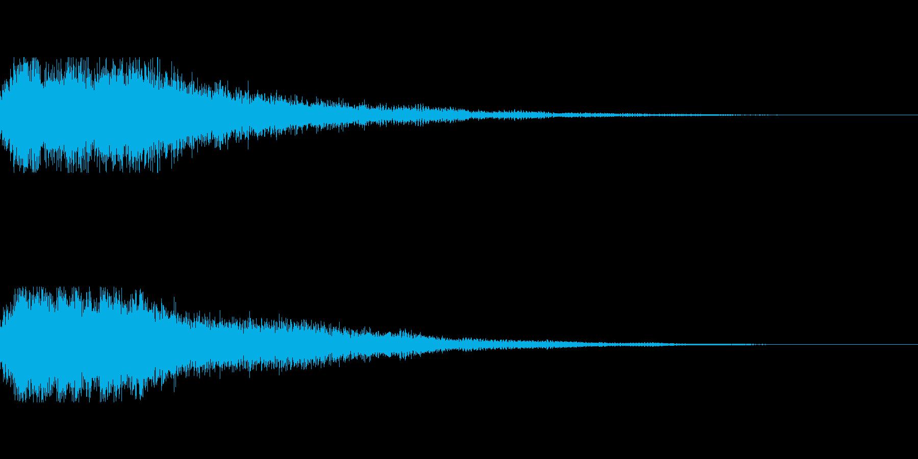 [シャキーン]決定音(明るく力強い)の再生済みの波形