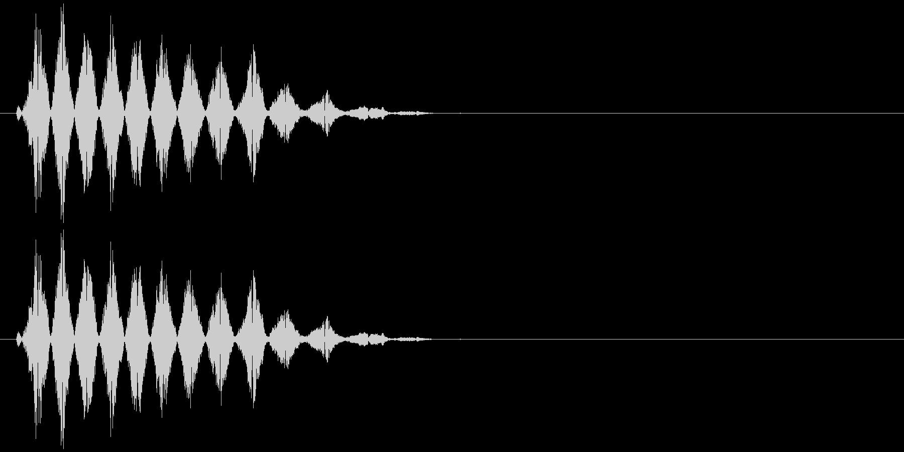 コミカルなおばけの声(ピッチ高)の未再生の波形