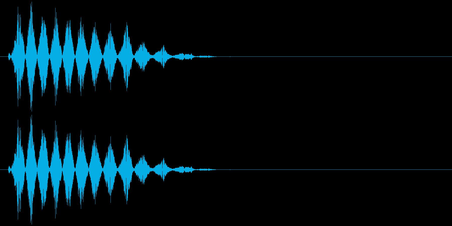 コミカルなおばけの声(ピッチ高)の再生済みの波形