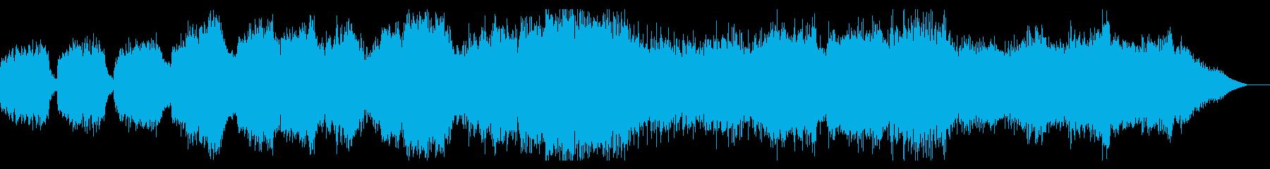 ダークでシネマチックなBGMの再生済みの波形