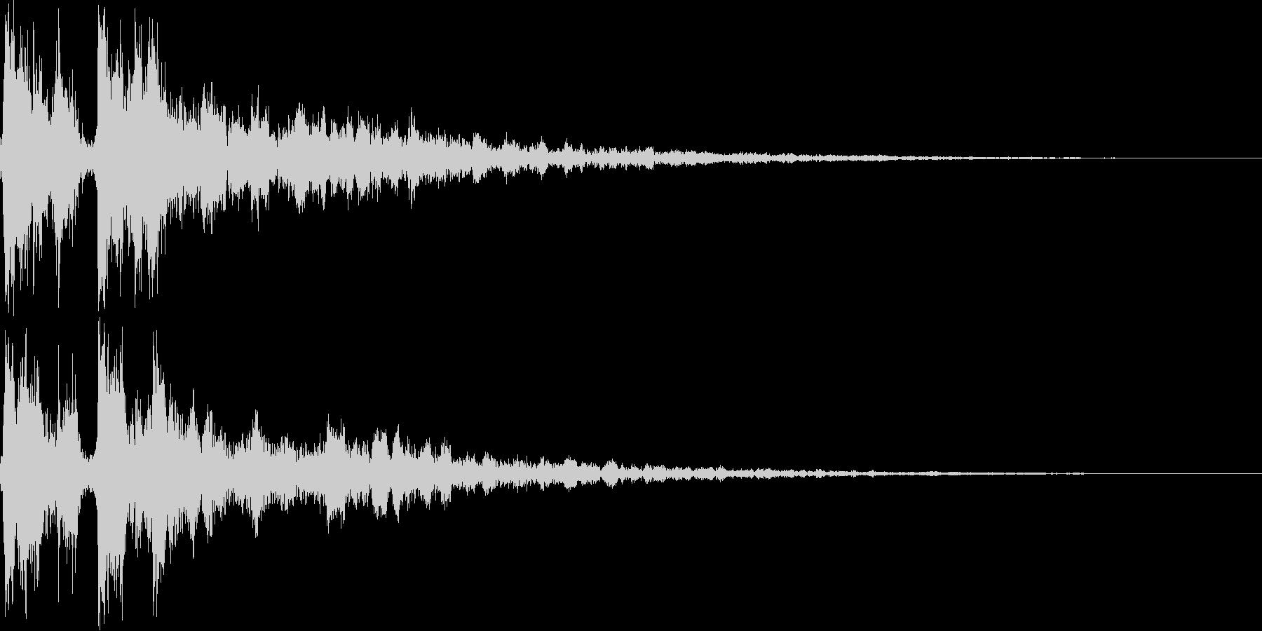拍子木を2回打ち合わせるの未再生の波形