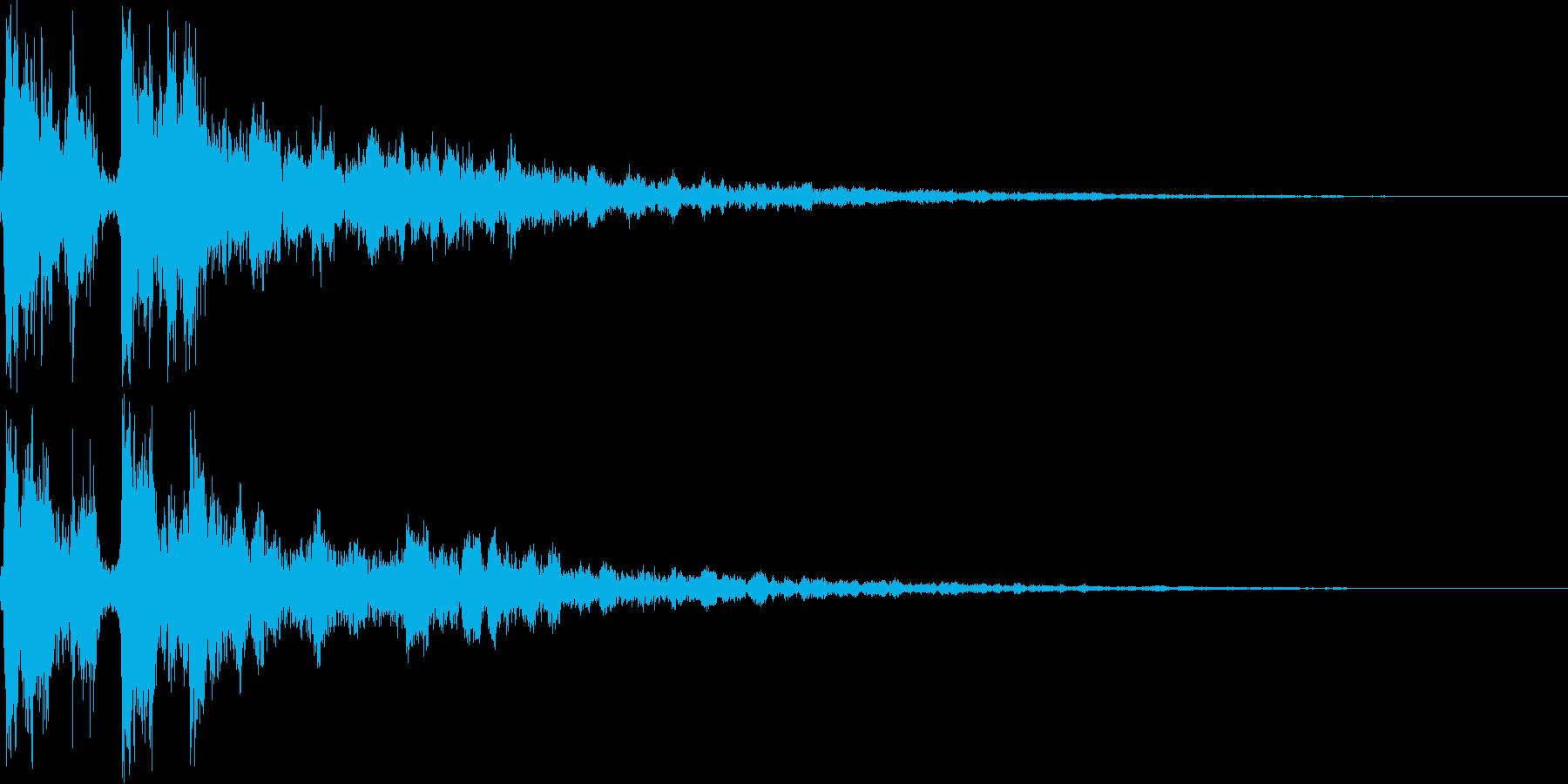 拍子木を2回打ち合わせるの再生済みの波形