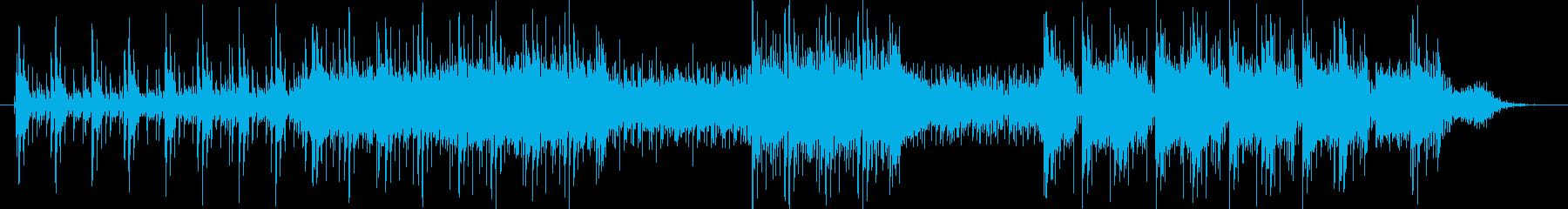 ゲーム、アニメなどのアクション向き楽曲。の再生済みの波形