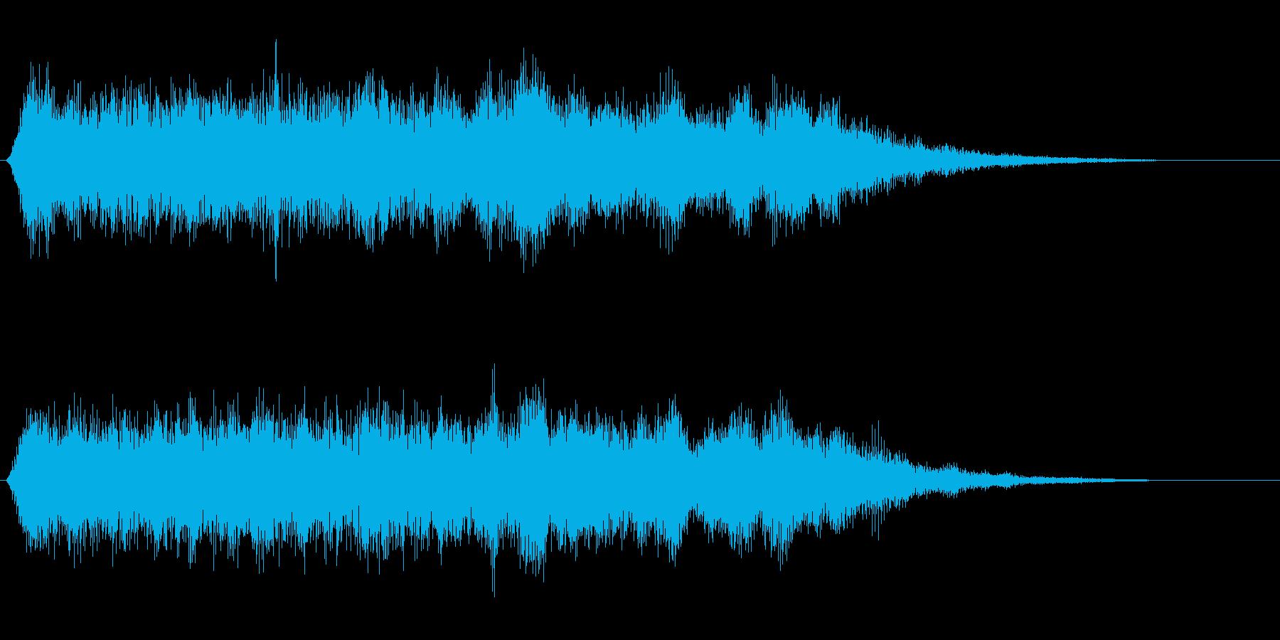 シンセサイザーのジュワーンとした音の再生済みの波形