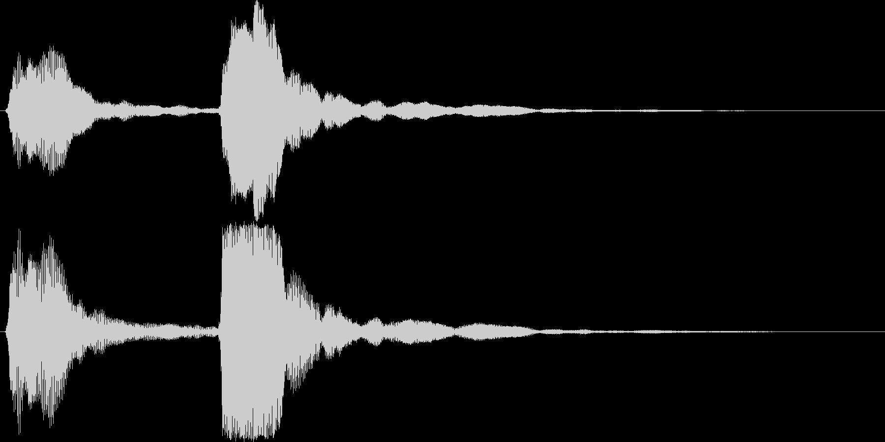 チャンチャン・オチの音(高)の未再生の波形