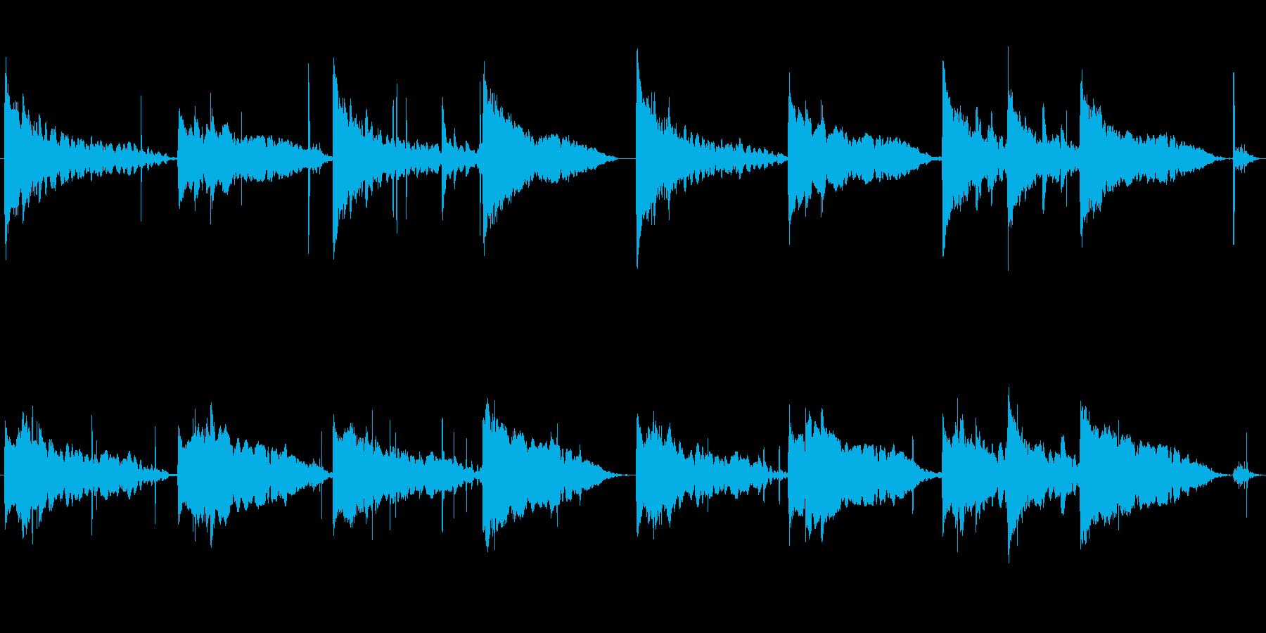 水の音を使った神秘的な曲の再生済みの波形