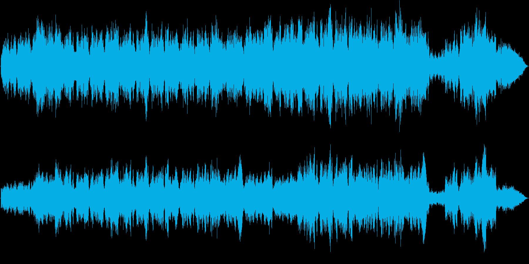 ヴァイオリンソロと弦楽器アンサンブルの再生済みの波形
