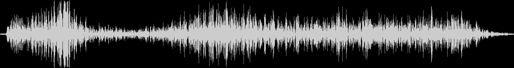 ディギシ。殴る音の未再生の波形
