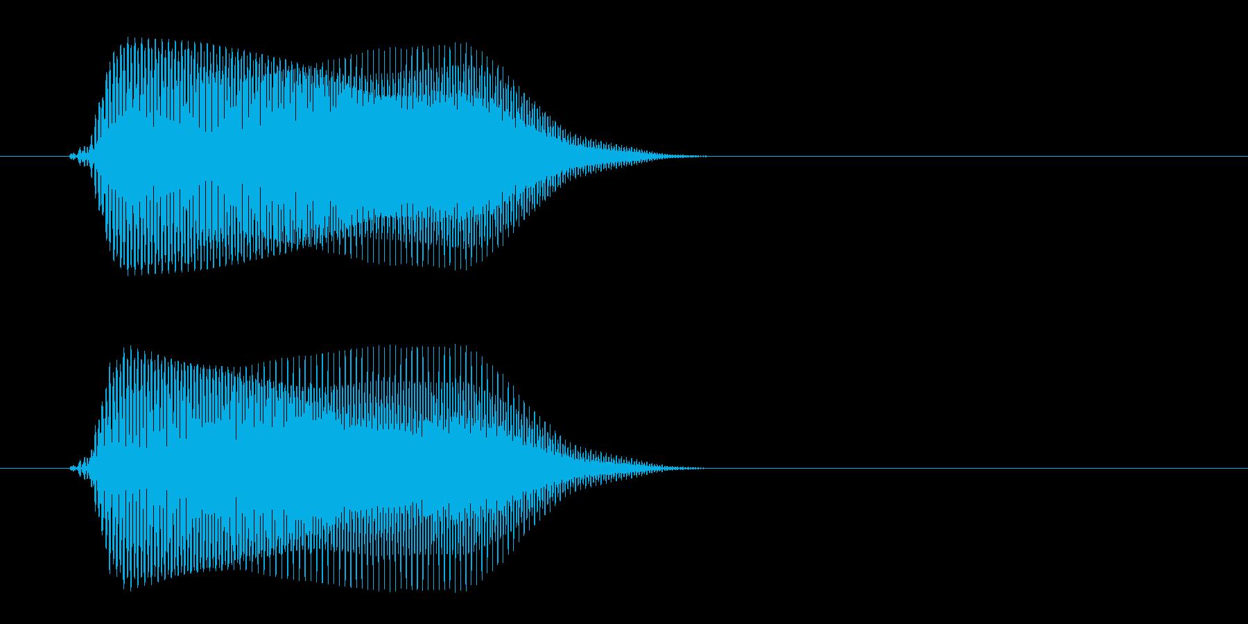 高いゲームのクリック音の再生済みの波形
