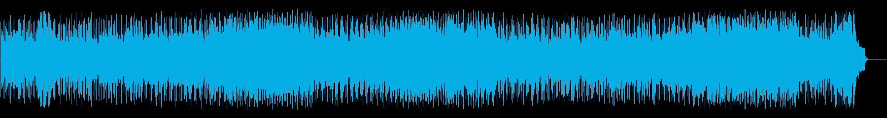 空と海の爽快フュージョン(フルサイズ)の再生済みの波形